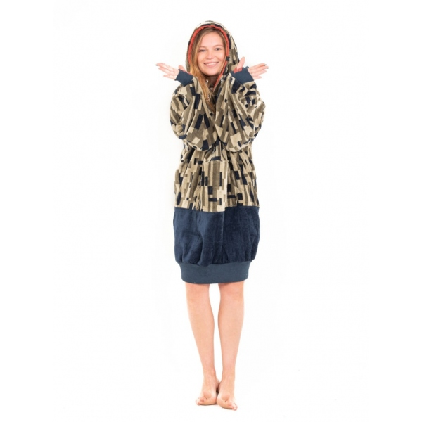 Poncho Long Sleeves ALL-IN Jacquard