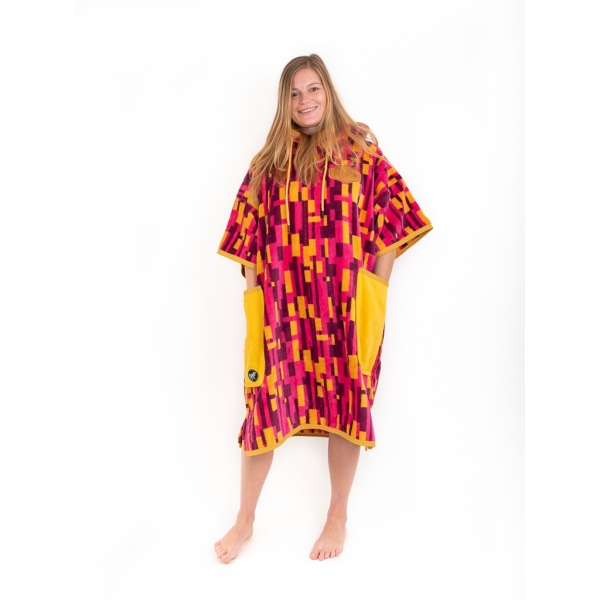 T Poncho ALL-IN Bumpy Line femme
